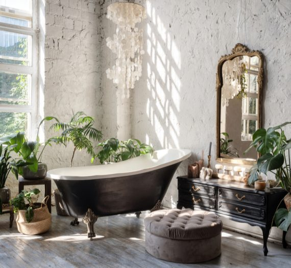 Wyjątkowa łazienka w stylu boho